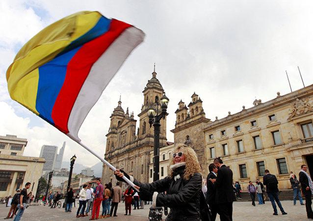 Manifestación por la paz en Colombia