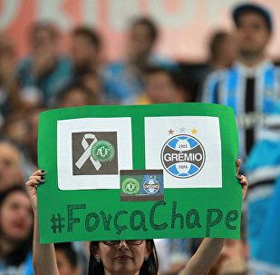 Hincha del equipo Chapecoense