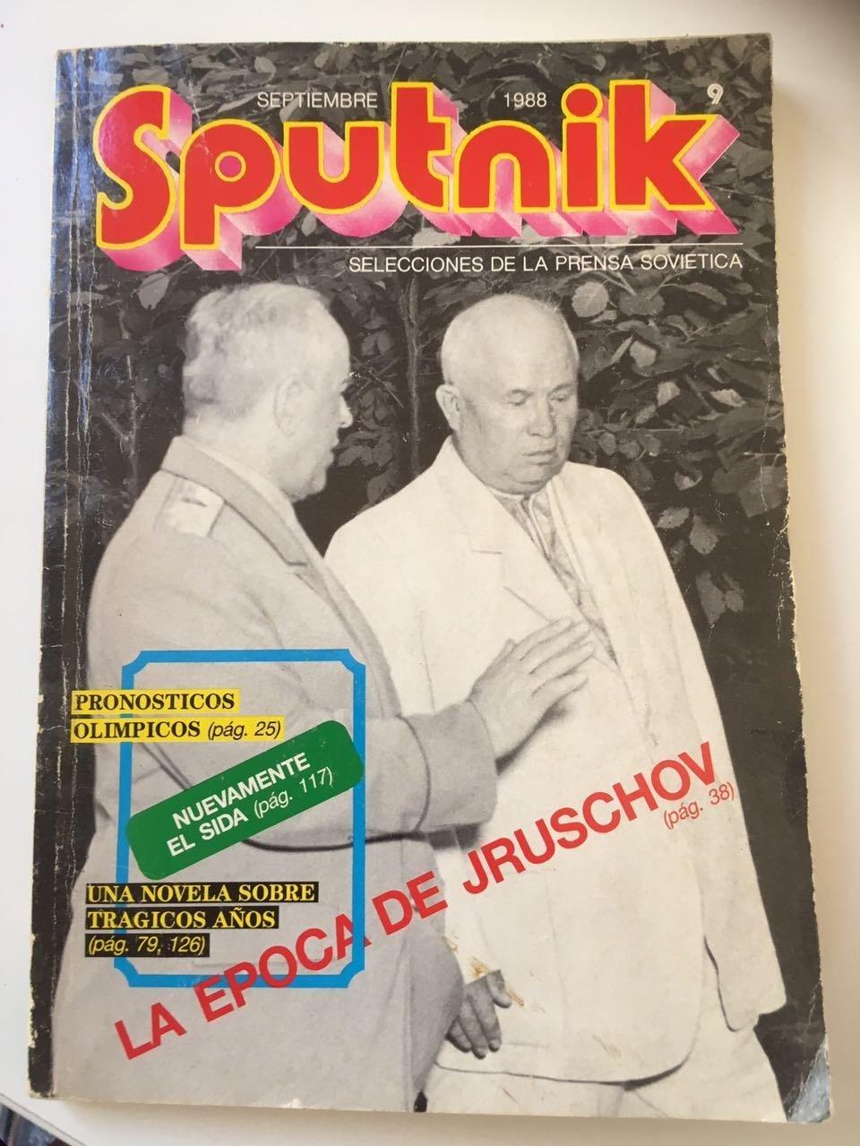 Revista Sputnik. Ed. Septiembre 1988