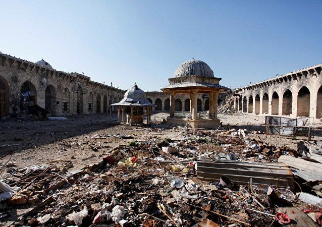 La situación en Alepo, Siria