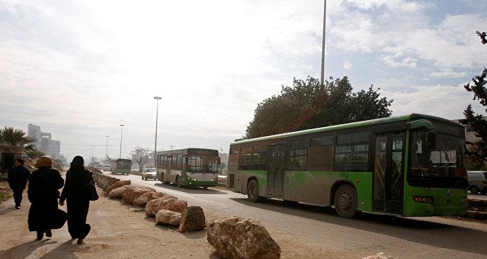 Evacuación de los civiles de Alepo