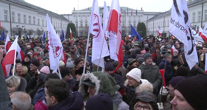 Las protestas en la capital de Polonia