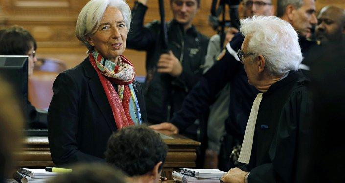 Christine Lagarde, directora ejecutiva del FMI, en la Corte