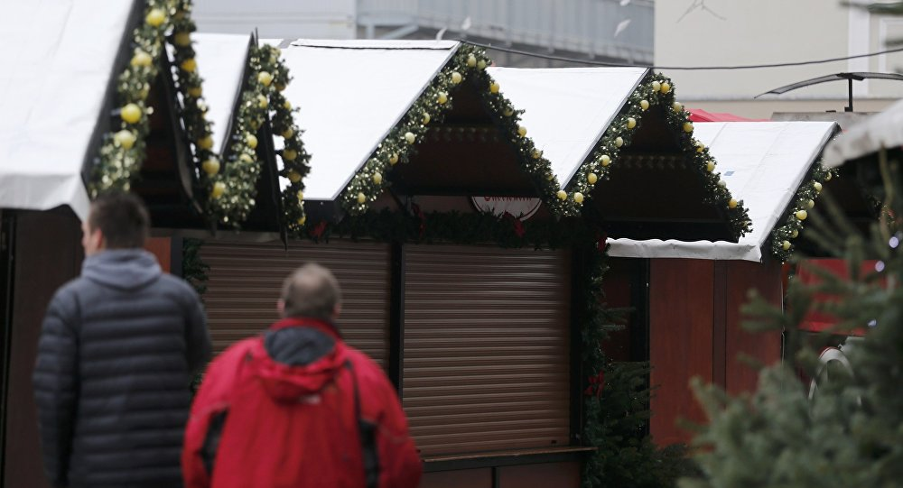 La feria navideña cerrada en Berlín