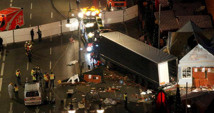 Lugar del atentado en Berlín