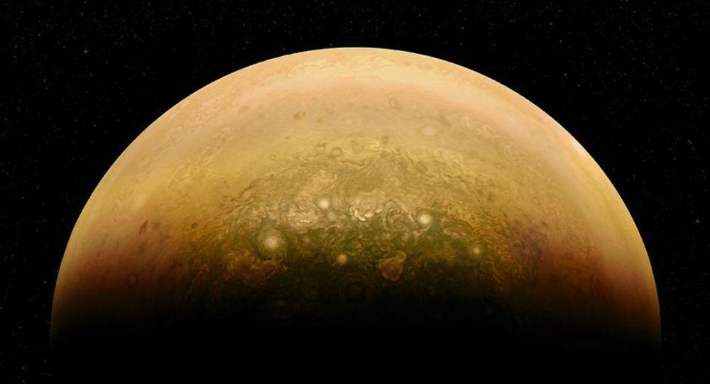 Parte iluminada de Júpiter
