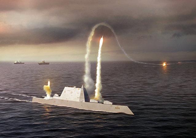 El destructor estadounidense Zumwalt DDG-1000