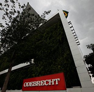 La sede de Odebrecht en Sao Paulo, Brasil