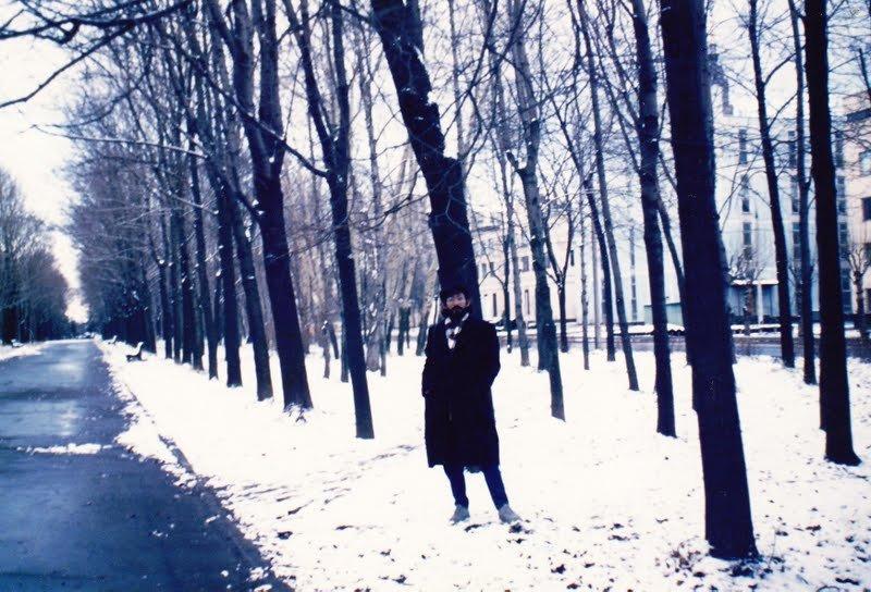 Luís Avelima en la Universidad de Moscú. El escritor sueña con volver a la capital rusa.