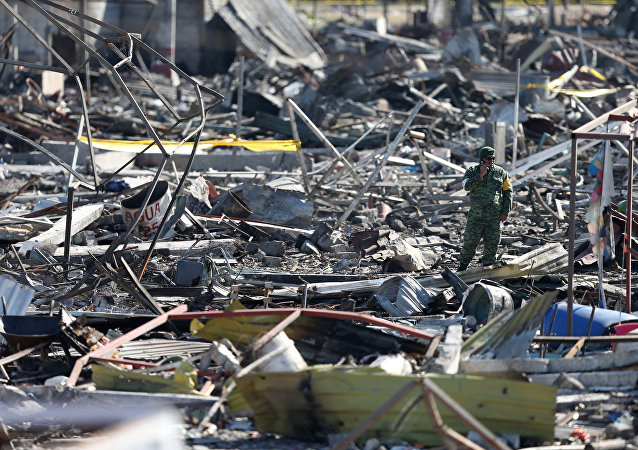 Consecuencias de la explosión e incendios en el mercado de pirotecnia de San Pablito en Tultepec, México
