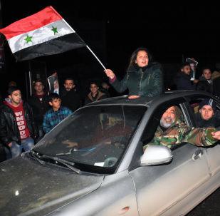 La fiesta de la victoria tras la liberación de Alepo