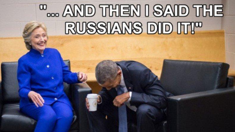 ... y entonces les dije que los rusos lo hicieron!