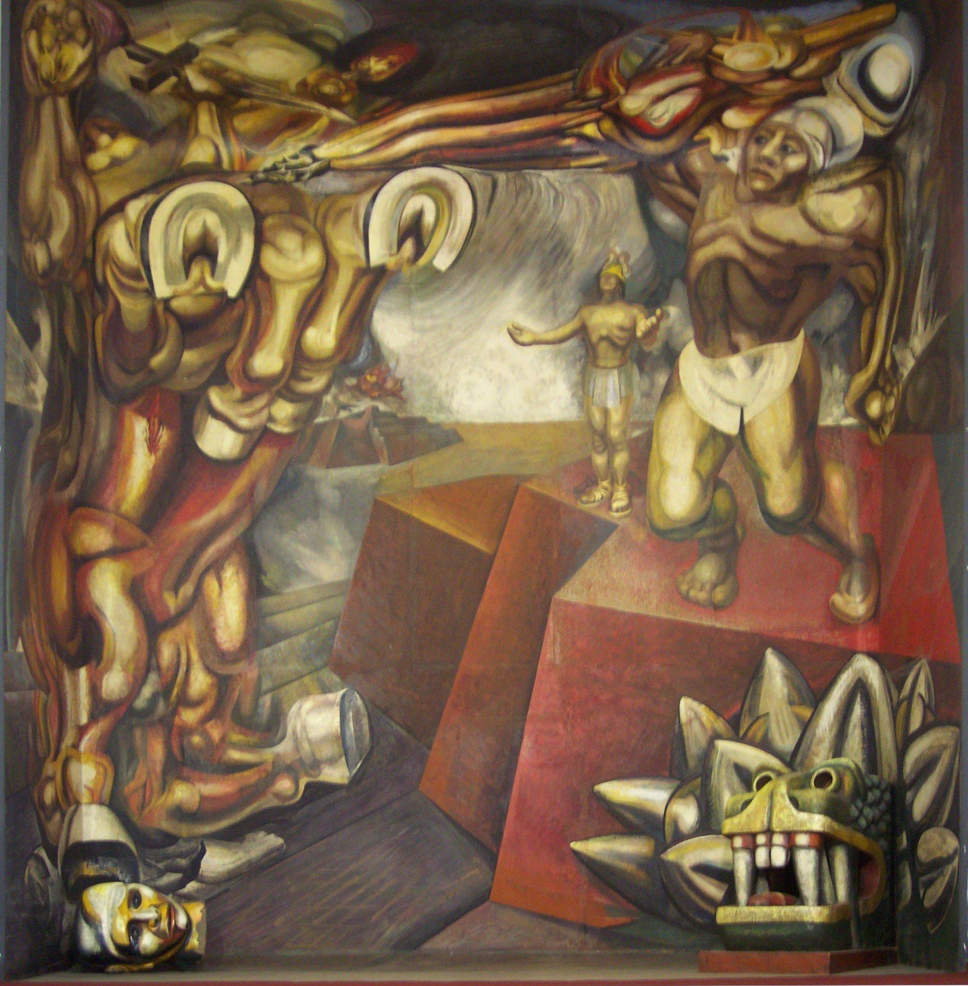 Mural de Jesús Alfaro Siqueiros en el Tecpan
