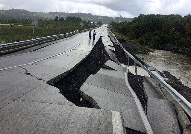 Consecuencias del terremoto en la región de Chiloé, Chile