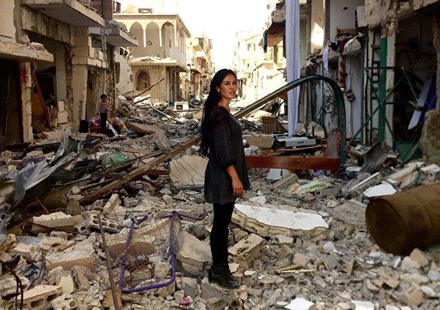 La cineasta boliviana Carla Ortiz en Siria