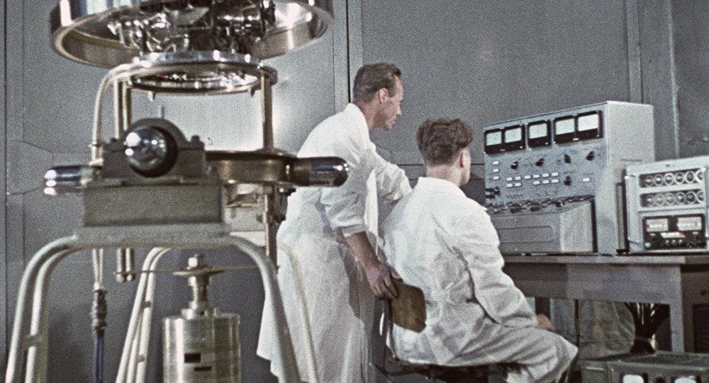 Científicos soviéticos (ilustración)