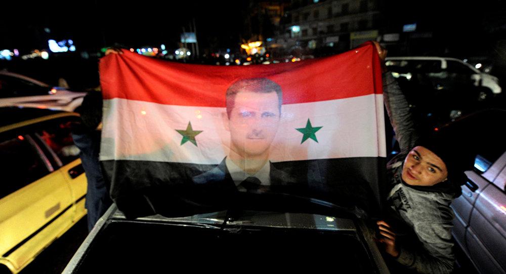 Partidarios del Gobierno sirio