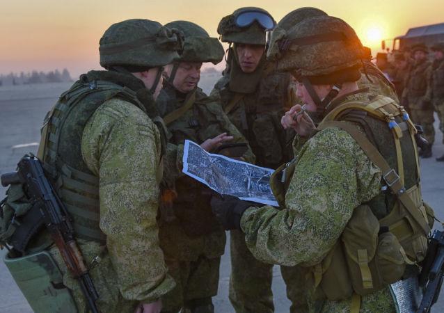 Unos militares rusos en Siria (archivo)