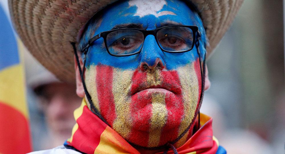 El partidario de la independencia de Cataluña