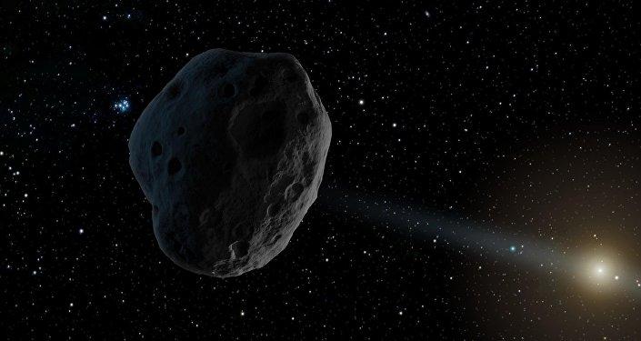 Imagen gráfica del asteroide 2016 WF9