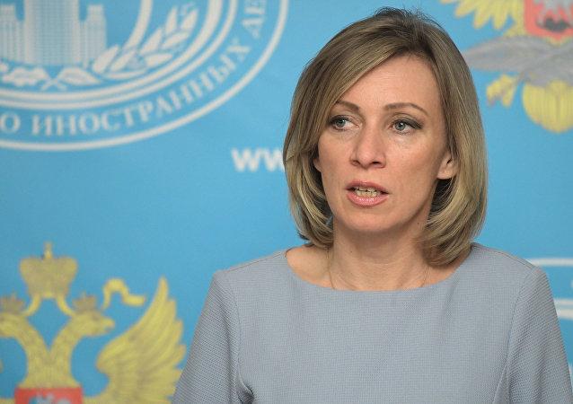 María Zajárova, portavoz del Ministerio ruso de Exteriores