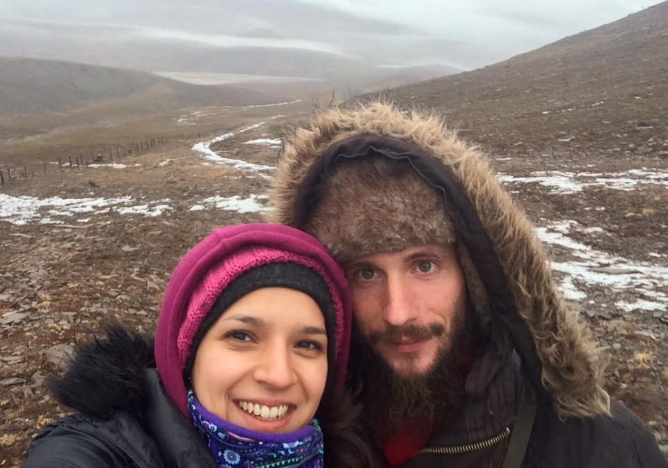 Sasha y Gabriela en Spitsbergen