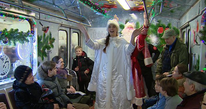 Moscú se luce con el Tren de Navidad