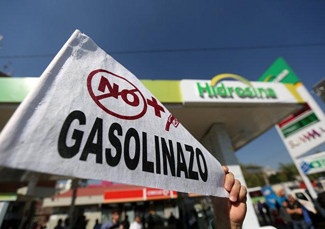 Protestas contra la subida del precio de la gasolina en México