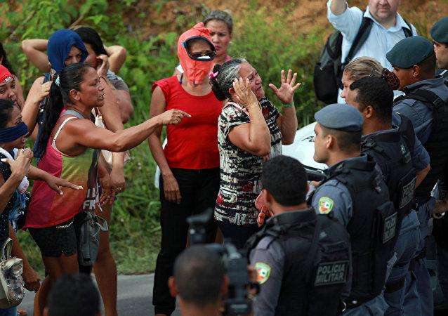 Los parientes de las víctimas del motín en Manaos