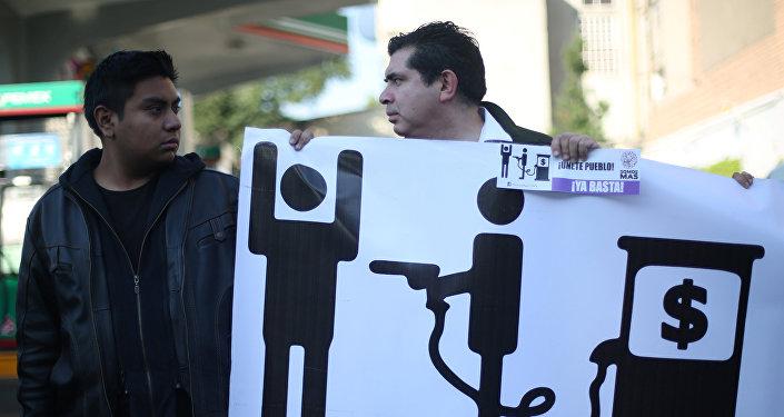 Protestas en México contra la subida del precio de gasolina