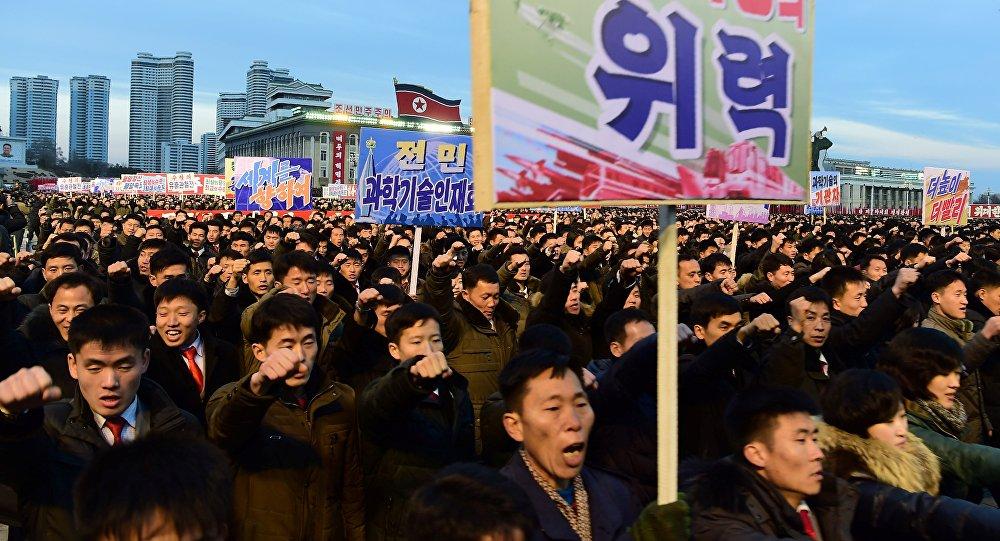 Mitin en Pyongyang (Archivo)