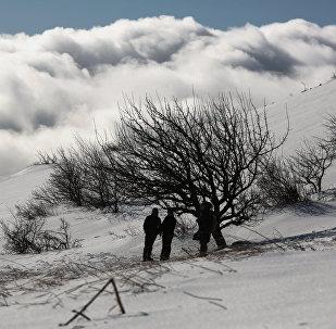 Un fuerte frente frío azotó Europa los primeros días de enero
