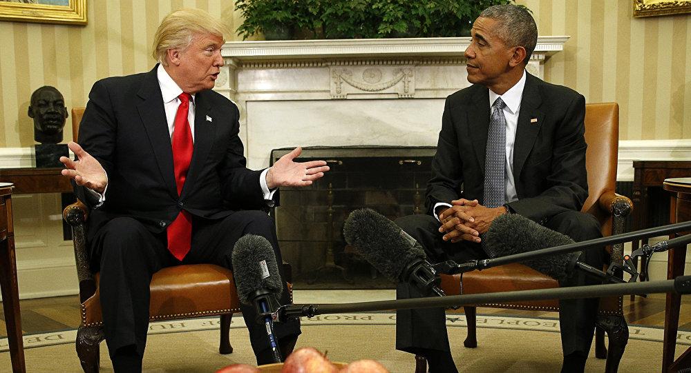 El presidente electo de EEUU, Donald Trump, y el presidente actual de EEUU, Barack Obama