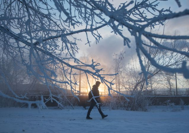 Frío extremo en Moscú
