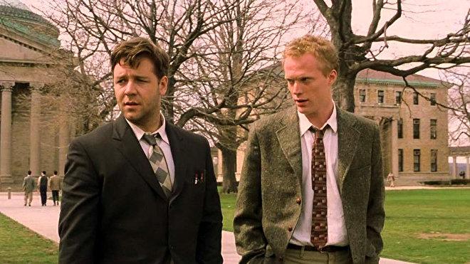 Russell Crowe y Ed Harris en la película 'A Beautiful Mind'