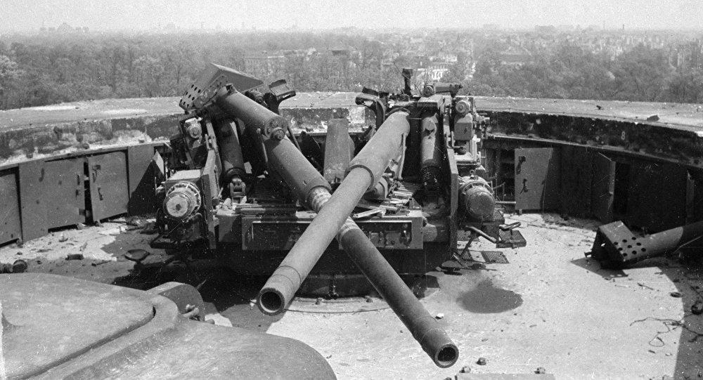 Cañones antiaéreos de la Alemania nazi (archivo)