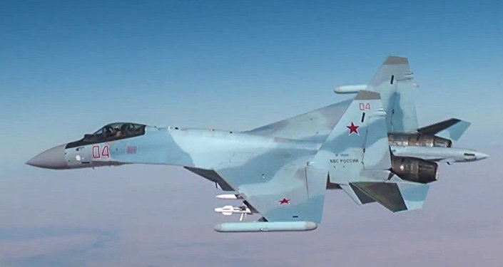 El Su-30 de las Fuerzas Aeroespaciales de Rusia en Siria