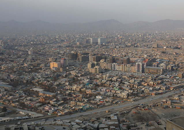 An aerial view of Kabul, Afghanistan January 1, 2017