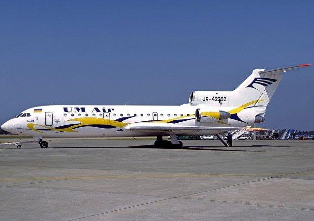 El avión Yak 42 siniestrado en 2003