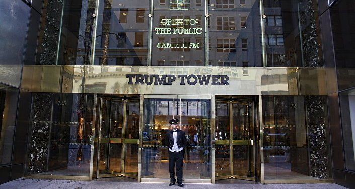 La entrada principal de Trump Tower (archivo)