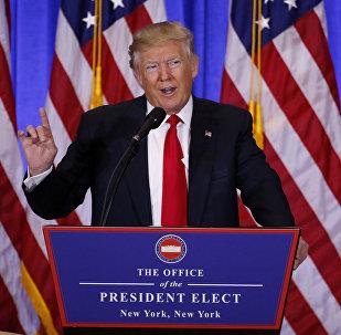 La primera rueda de prensa de Donald Trump tras ganar las elecciones presidenciales de EEUU