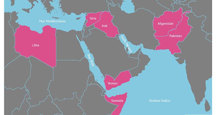 Los países que fueron 'blanco' de las bombas de EEUU en 2016