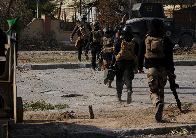 Las fuerzas iraquíes en Mosul (archivo)