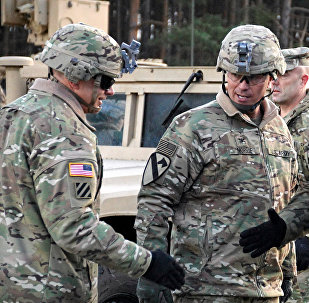 Soldados estadounidenses y polacos en Polonia