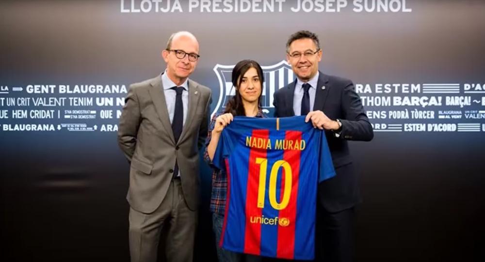 FC Barcelona recibe a Nadia Murad