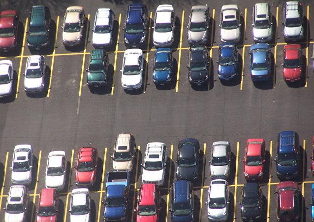 Un estacionamiento