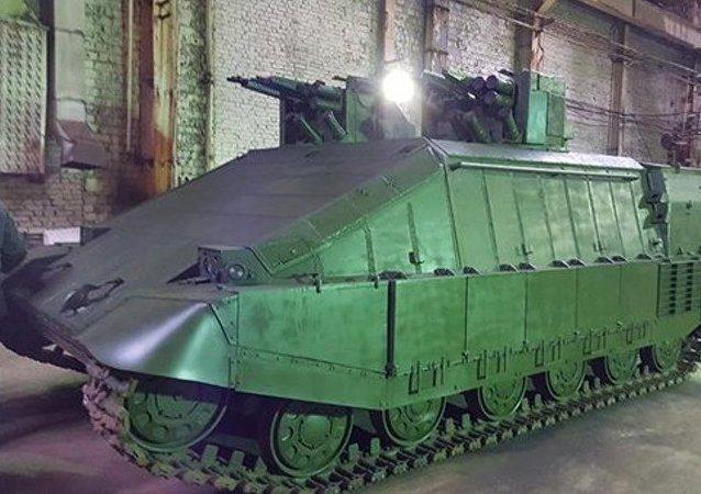 El tanque ucraniano Azovets (archivo)