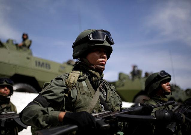 Un soldado venezolana (archivo)