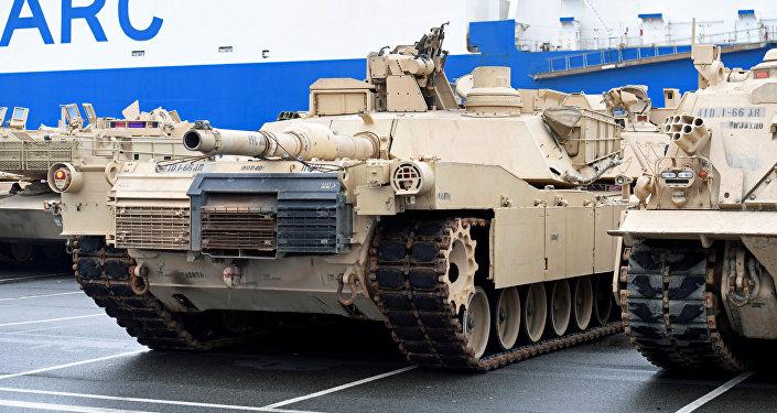 Tanques de EEUU en Bremerhaven