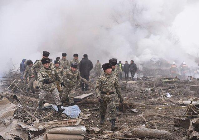 El lugar de la caída del avión Boeing 747 de Turkish Airlines